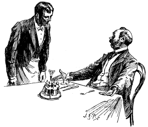 camarero maleducado
