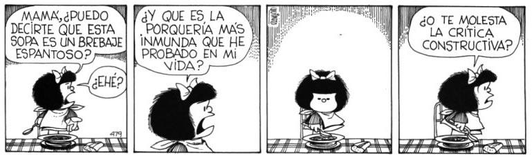 mafalda criticando