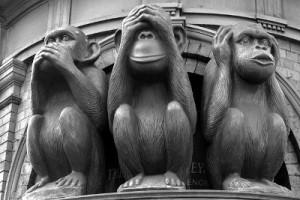 callarse como monos