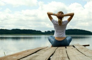 meditar ante un paisaje