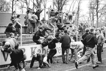 FDGB-Pokal, 1. FC Lok Leipzig - Dynamo Schwerin, Ausschreitungen