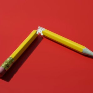 Broken pencil, studio shot