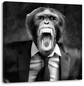 angry-monkey-in-a-suit-graphic-art-print-on-canvas